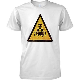 Warning Apache Gunships Patrolling - Mens T Shirt