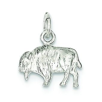 Argent sterling solide poli charme Buffalo - 2,3 grammes