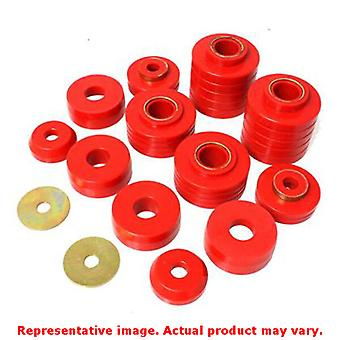 Energy Suspension 4.4107R Red Energy Suspension Body Mount Set Fits:FORD 1980 -