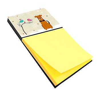 Christmas Presents between Friends Airedale Sticky Note Holder