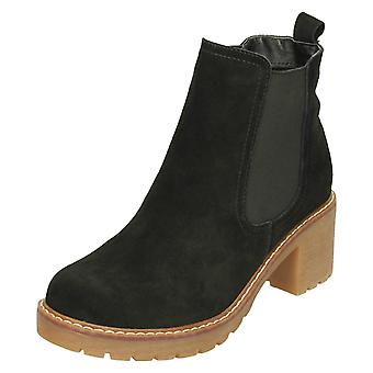 Ladies Down To Earth Suede Leather Ankle Boots F50798