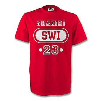 Xherdan Shaqiri Sveits sveitsisk T-shirt (rød) - barn