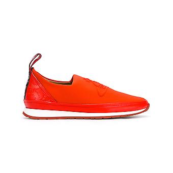 Vivienne Westwood men's 63809513W53PS0006 red leather slip on sneakers