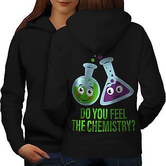 Чувствовать себя обратно BlackHoodie женщин химии | Wellcoda