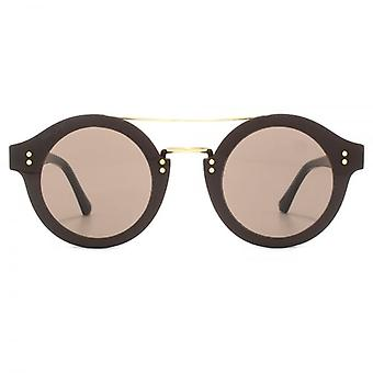 Jimmy Choo Montie Sunglasses In Dark Grey Gold Glitter