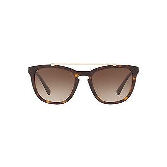 Valentino Metal Keyhole Bridge Sunglasses In Havana