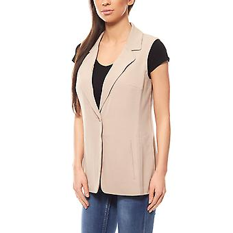 Rick cardona by heine lane vest ladies beige