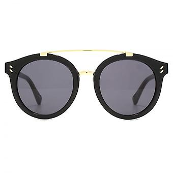 Stella McCartney Double Bridge Round Sunglasses In Black