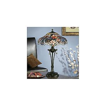 Interiors 1900 TB10L + TG72SH Sullivan Small 2 Light Tiffany Table Lam