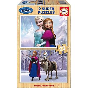 Educa 2x25 Frozen Puzzles (Babies and Children , Toys , Boardgames)