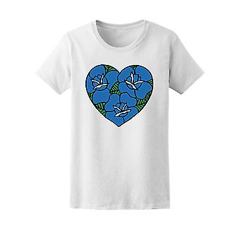 Heart With Roses Tattoo Tee Women's -Image by Shutterstock