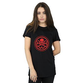 Marvel Women's Hydra Logo Boyfriend Fit T-Shirt