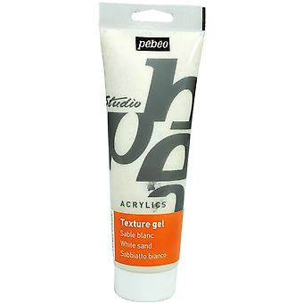 Pebeo Studio akryl Sand teksturen Gel 250ml Tube (hvit)