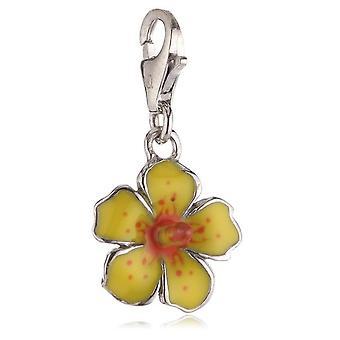 s.Oliver Jewel Ladies pendant silver hibiscus yellow SOCHA / 150-393409
