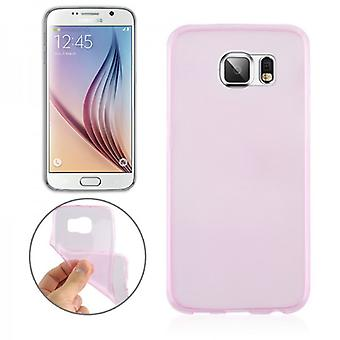 Silikoncase rosa 0,3 mm ultra tynn tilfelle for Samsung Galaxy S6 G920 G920F