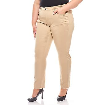 abdulgaffar women's jeans Stretch pants plus size beige