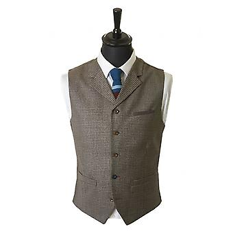 Gibson London Dogstooth Tweed vest