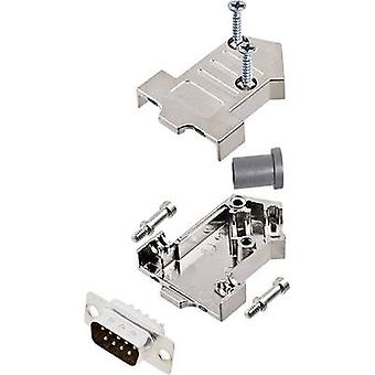 encitech D45NT09-M-DMP-K D-SUB pin strip set 45 ° Number of pins: 9 Solder bucket 1 Set