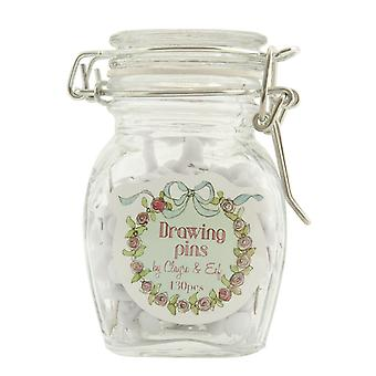 Clayre & EEF stock glas dekorative pot glas med stifter stifter ca. 5 x 5 x 9 cm