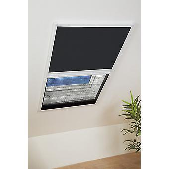 Sonnenschutz Insektenschutz Kombi-Dachfenster-Plissee 110 x 160 cm in Braun