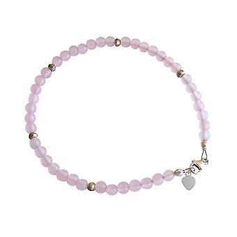 Bangle Bracelet Rose Quartz bracelet 925 Silver Pink gemstone bracelet