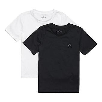 Calvin Klein Boys 2 Pack Modern Cotton Short Sleeve T-shirt - Black/ White