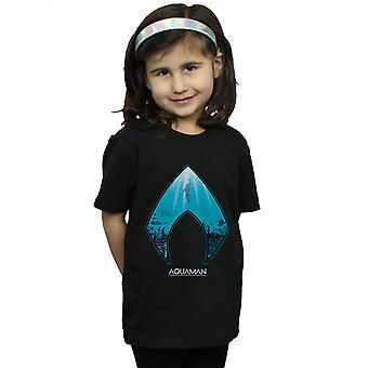 DC Comics ragazze Aquaman oceano Logo t-shirt