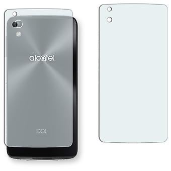 Alcatel Idol 4 back screen protector - Golebo crystal clear protection film