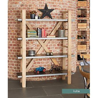 Kuba Wooden Large Open Bookcase - Baumhaus