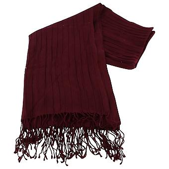 Bassin and Brown Turners Oak Large Ribbed Wool Scarf - Wine