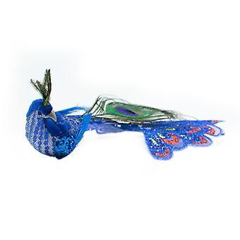 TRIXES pavão azul Xmas Tree decoração 21cm ornamento