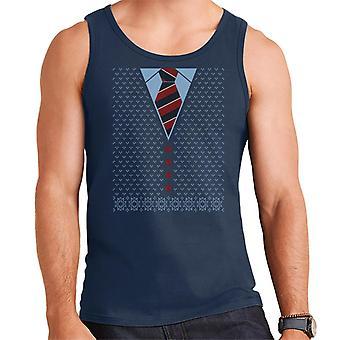 Christmas Cardigan And Tie Men's Vest