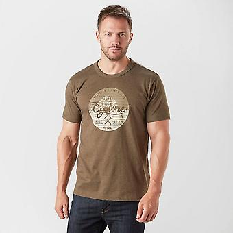 New Hi-Tec Men's Barnet Short Sleeve Graphic T-Shirt Brown