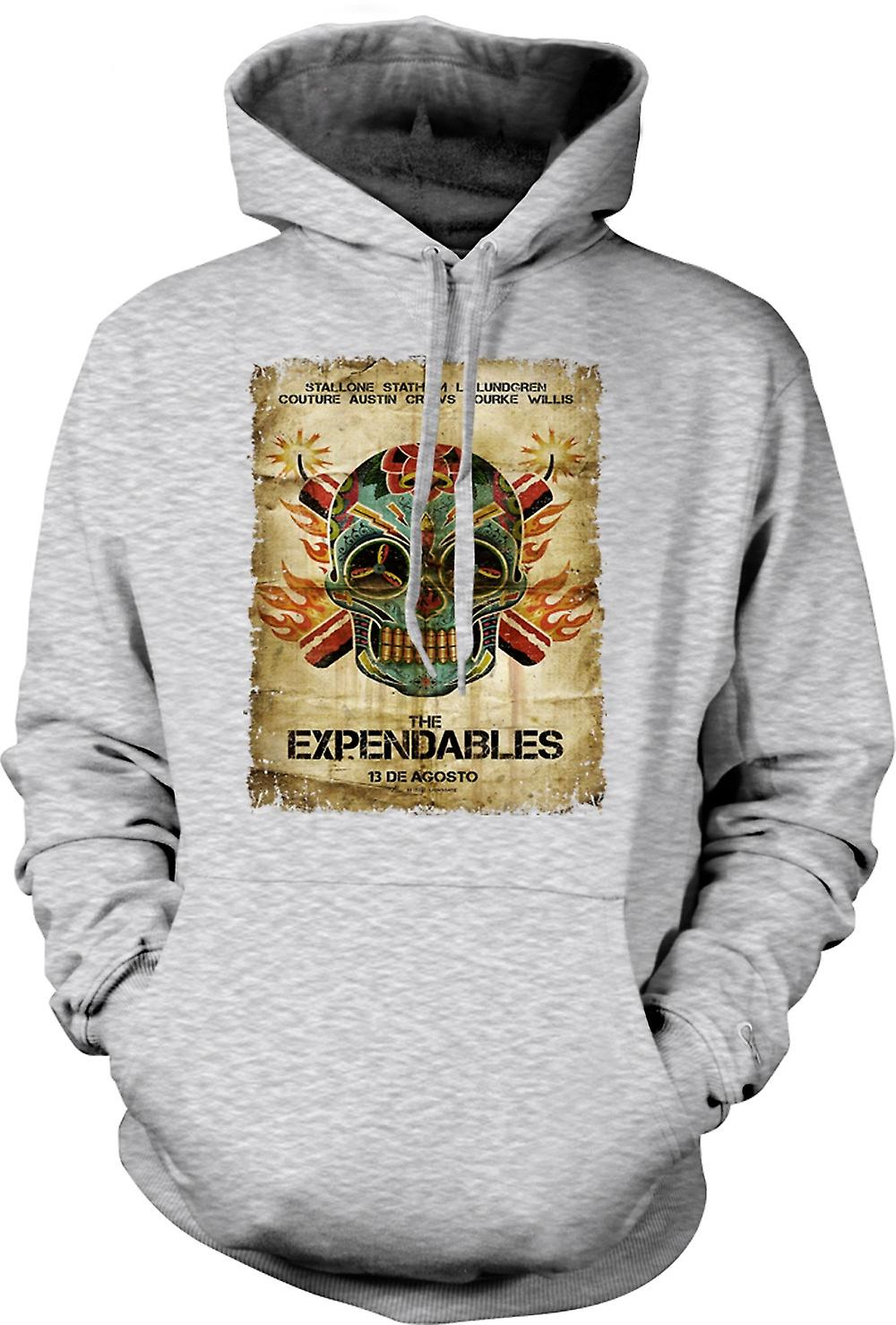 Mens Hoodie - The Expendables - B Movie - Poster