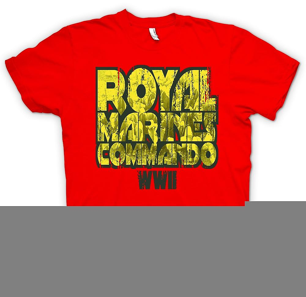 Mens T-shirt - Royal Marines Commando WW2