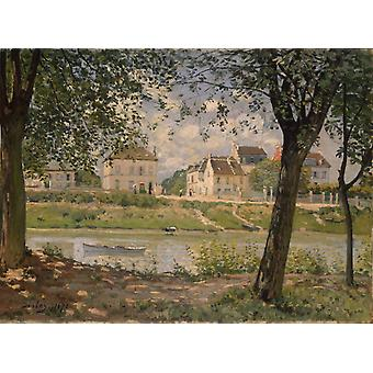 Villeneuve la Garenne on the Seine,Alfred Sisley,50x37cm