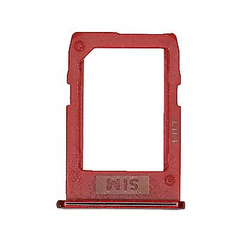 Genuine Samsung Galaxy J6+ Red Nano SIM Card Tray   iParts4u