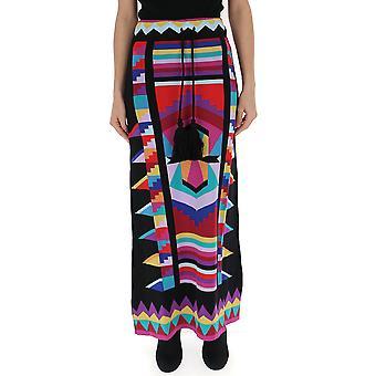 Laneus Multicolor Cotton Skirt