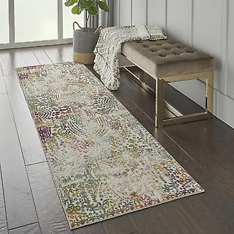 Radiant Runners Rad03 In Ivory And Multi By Nourison