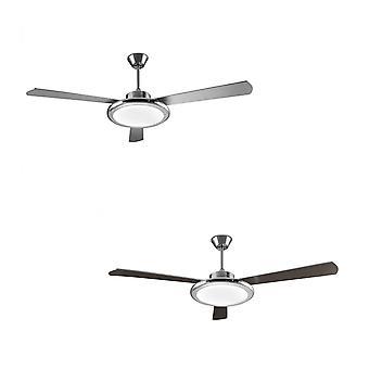 Ventilateur de plafond LED Bahia nickel 132cm/52