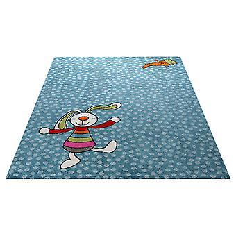 Rugs -Sigi-Kid Rainbow Rabbit Blue - SK 0523-01