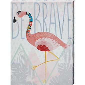 Grindstore Be Brave Canvas Print