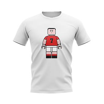 Eric Cantona Man Utd Brick Footballer T-Shirt (White)