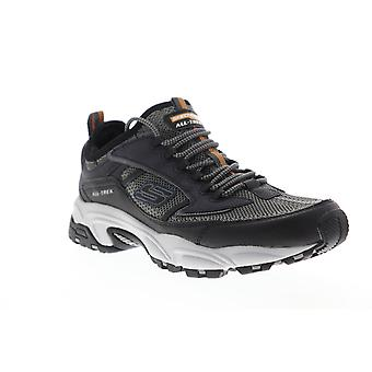 Skechers Stamina Berendo Mens Gray Textile Athletic Running Shoes
