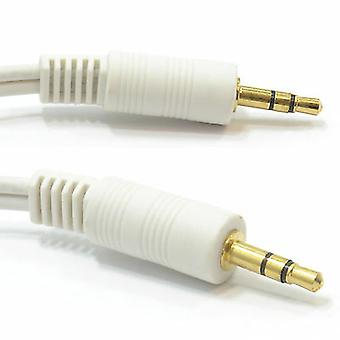 White 5M 3.5mm to 3.5 Jack to Jack Audio Cable Lead