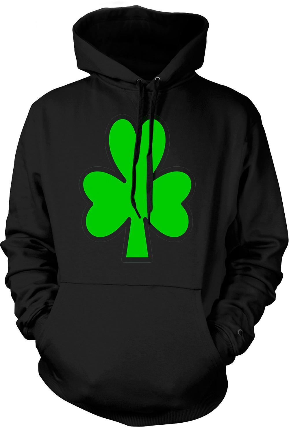Mens Hoodie - Irish Shamrock - Funny