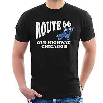 Route 66 Old Highway Chicago Men's T-Shirt