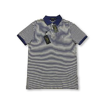 Ralph Lauren Polo SLI fit polo in wit/blauw St