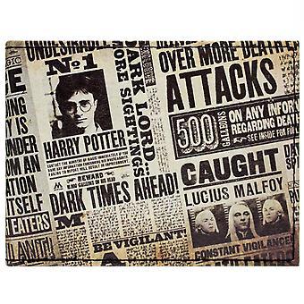 Warner Bros Harry Potter Tabloid ID & kaart Bi-Fold portemonnee