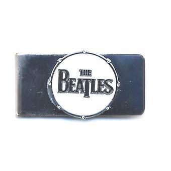 The Beatles Money Clip Classic Drum Band White et Chrome nouveau métal officiel